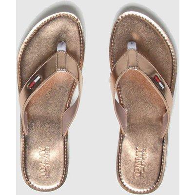 Tommy Hilfiger Bronze Metallic Beach Sandals