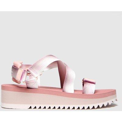Tommy Hilfiger Pale Pink Tj Degrade Tape Flatform Sandals