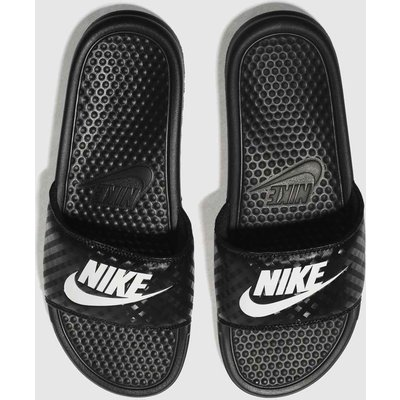 Nike Black & White Benassi Slide Sandals
