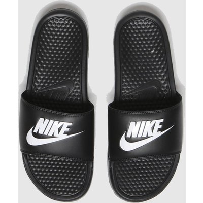 Nike Black & White Benassi Jdi Sandals