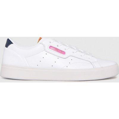 Adidas White & Pink Sleek Trainers