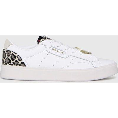 Adidas White & Brown Sleek Trainers
