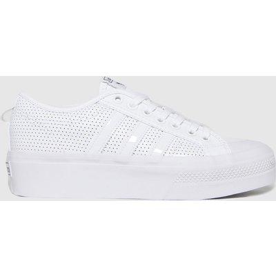 Adidas White & Black Nizza Platform Trainers