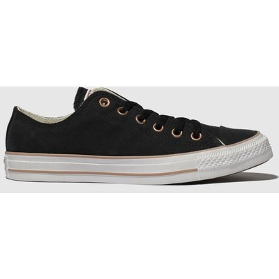 Converse Black All Star Peached Canvas Ox Trainers