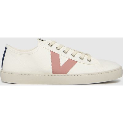 Victoria White & Pink Berlin Canvas Trainers