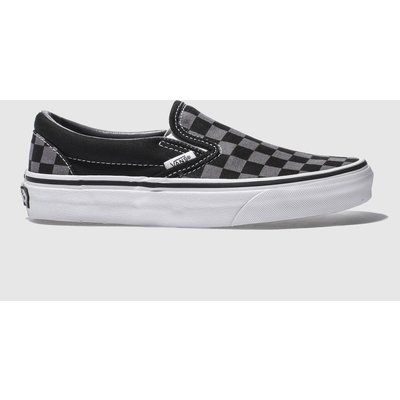 Vans Black & Grey Classic Checkerboard Trainers