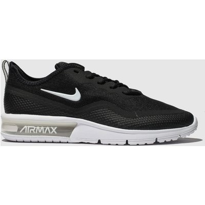 Nike Black & White Air Max Sequent 4 Trainers