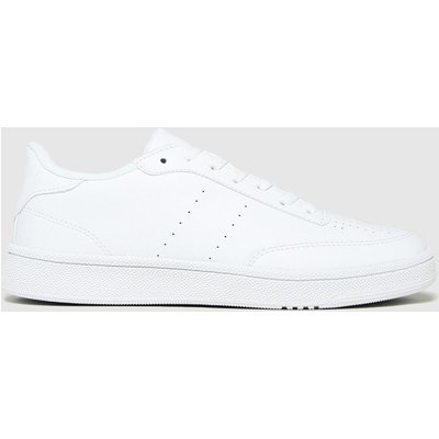 Schuh White Manning Court Lace Up Trainers