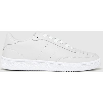 Schuh Light Grey Manning Court Lace Up Trainers