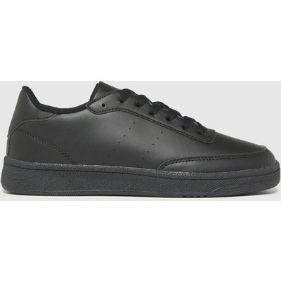 Schuh Black Manning Court Lace Up Trainers