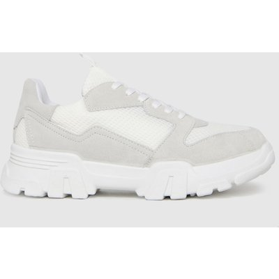 Schuh White & Grey Marcy Chunky Trainers