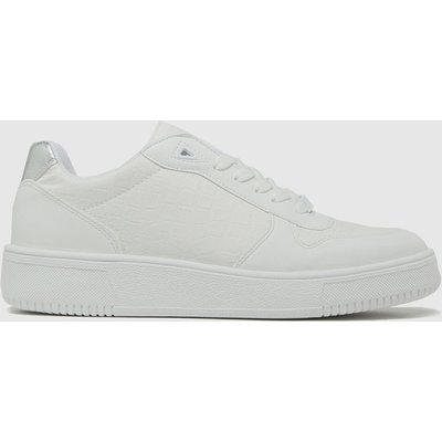 Schuh White Manda Lace Up Trainers