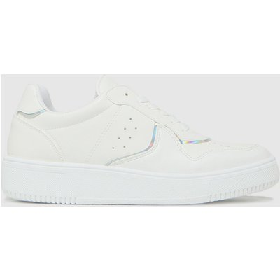 Schuh White Minty Holographic Trainers