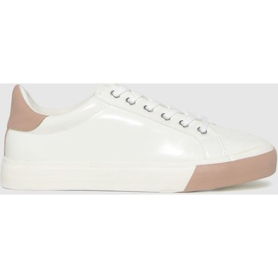 Schuh White & Pink Marni Lace Up Trainers