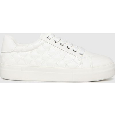 Schuh White Monica Padded Lace Up Trainers