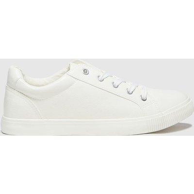 Schuh White Molly Lace Up Trainers