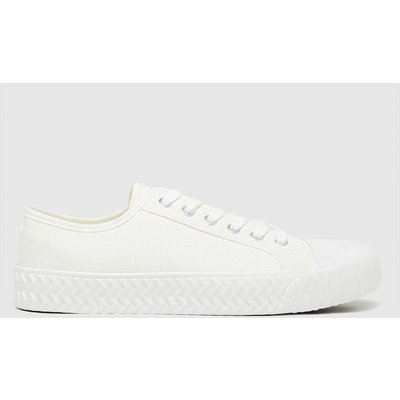 Schuh White Mia Canvas Lace Up Trainers