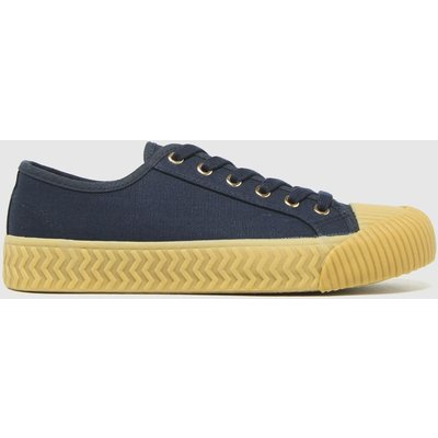 Schuh Navy Mia Canvas Lace Up Trainers
