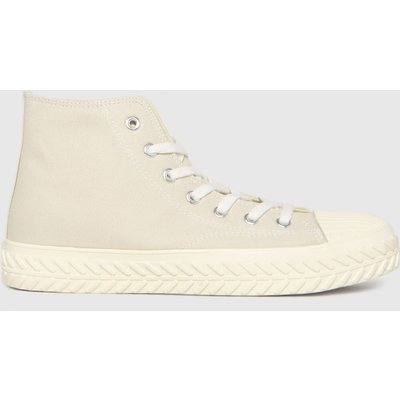 Schuh Natural Mckenna Hi Top Lace Up Trainers