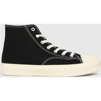 Schuh Black Mckenna Hi Top Lace Up Trainers