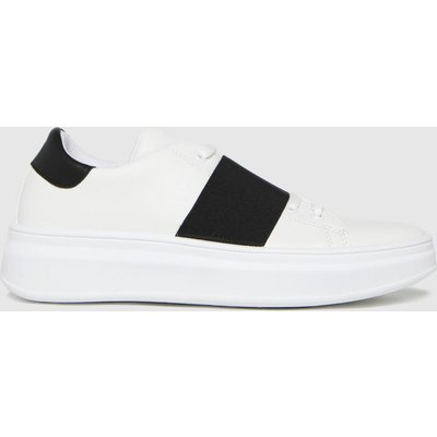 Schuh White Madison Elastic Detail Trainers