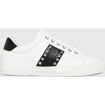 Schuh White Melissa Stud Detail Trainers
