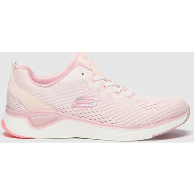 SKECHERS Pale Pink Solar Fuse Cosmic View Trainers