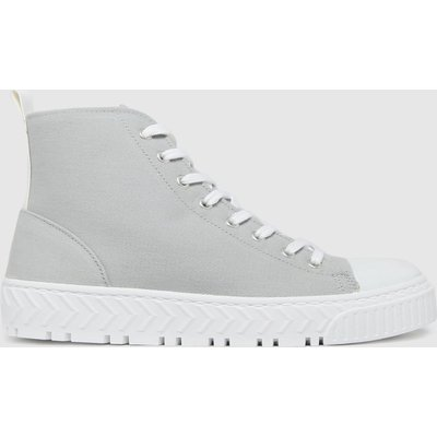 Schuh Grey Marci Hi Top Lace Up Trainers