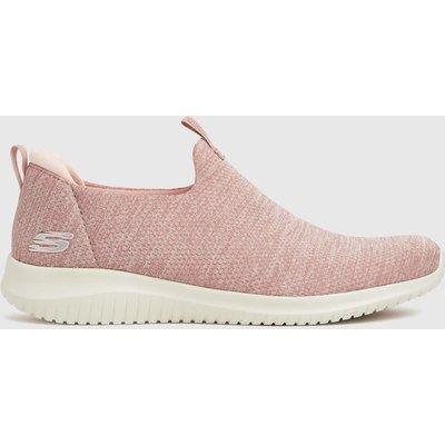 SKECHERS Pale Pink Ultra Flex Trainers