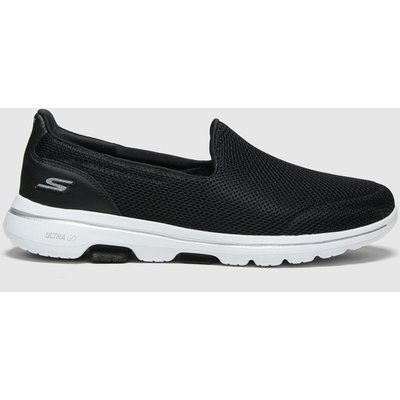 SKECHERS Black & White Go Walk 5 Trainers