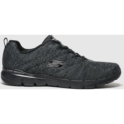 Skechers Black Flex Appeal 3.0 High Tides Trainers