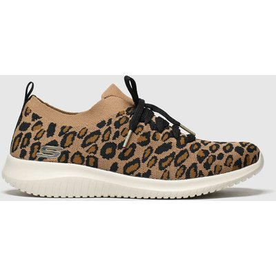 Skechers Brown & Black Ultra Flex Safari Tour Trainers