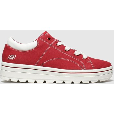 Skechers Red Street Cleats 2 Bring It Trainers