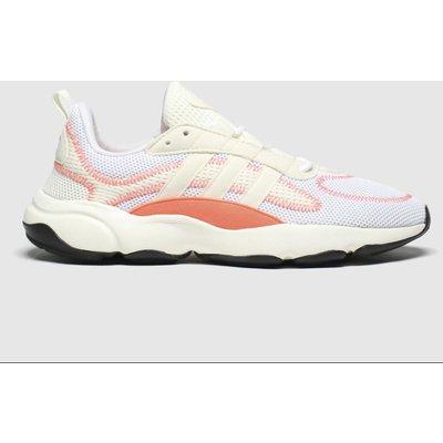 Adidas White & Orange Haiwee Trainers