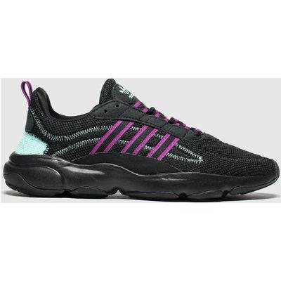 Adidas Black & Pink Haiwee Trainers