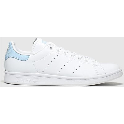 Adidas White & Pl Blue Stan Smith Trainers