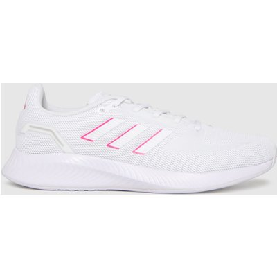 Adidas White & Pink Runfalcon 2.0 Trainers