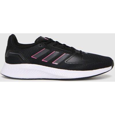Adidas Black & Pink Runfalcon 2.0 Trainers