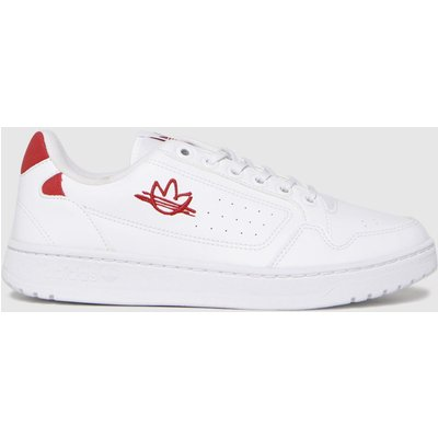 Adidas White & Red Ny 90 Trainers