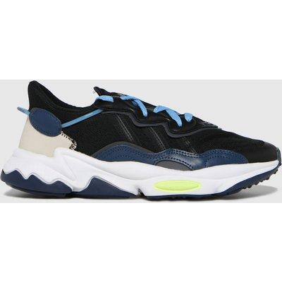 Adidas Black And Blue Ozweego Trainers
