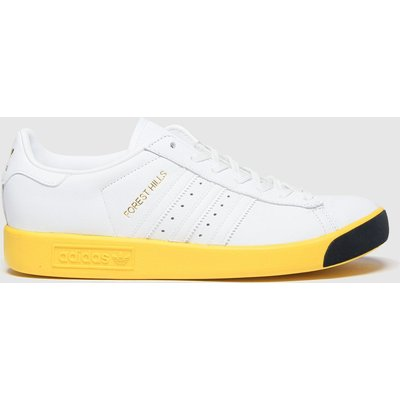 Adidas White & Yellow Forest Hills Trainers