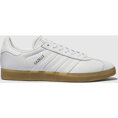 Adidas White Gazelle Leather Gum Trainers