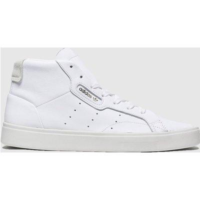 Adidas White Sleek Mid Trainers