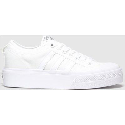 Adidas White Nizza Platform Trainers