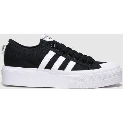 Adidas Black & White Nizza Platform Trainers