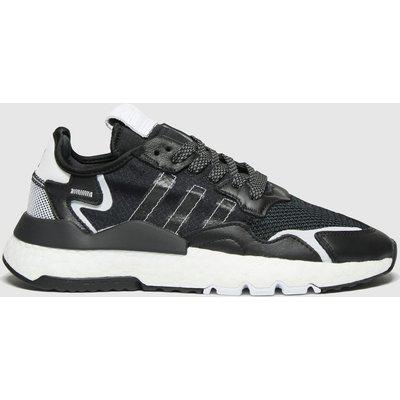 Adidas Black & White Nite Jogger Trainers