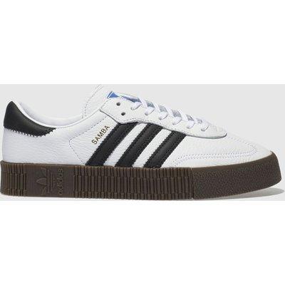 Adidas White & Black Sambarose Trainers