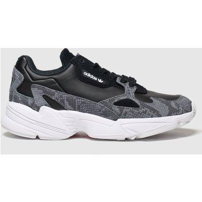 Adidas Grey & Black Falcon Trainers