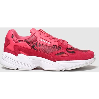 Adidas Pink & Black Falcon Trainers