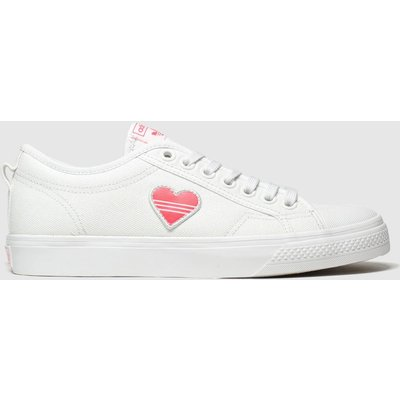 Adidas White & Red Nizza Trainers